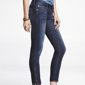 Express Stella Low Rise Blue Jeans Ankle Zippers